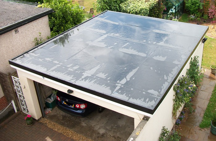 new flat garage rubber roof in ballingry fife area